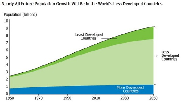 an overview of the effects of population growth in the world