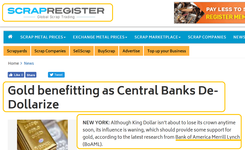 Gold: Central Bank Sentiment Is Rock Solid   Gold Eagle