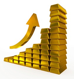Image result for pictures of an increase in gold